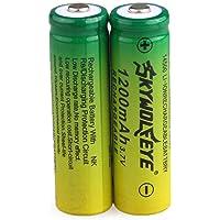 HCFKJ 2pcs 3.7V 1200mAh 14500 AA Lithium-Ionen-Akku für Taschenlampe