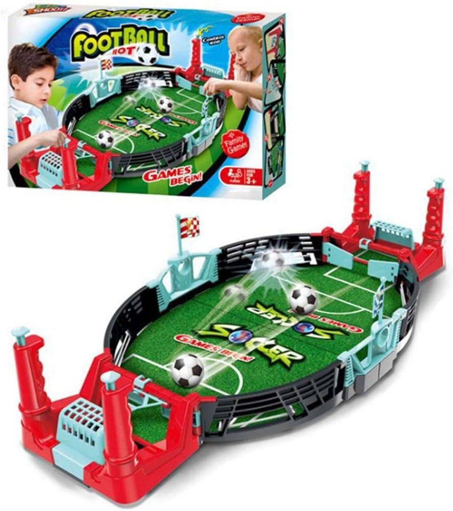 ZSLGOGO Mini Mesa De Futbolín Juegos De Mesa De Fútbol para Niños Adultos Juego Familiar Clásico Futbolín Juegos de Mesa de Fútbol, 1 Set Mini Futbolín Juego Regalo De Cumpleaños: Amazon.es: Hogar