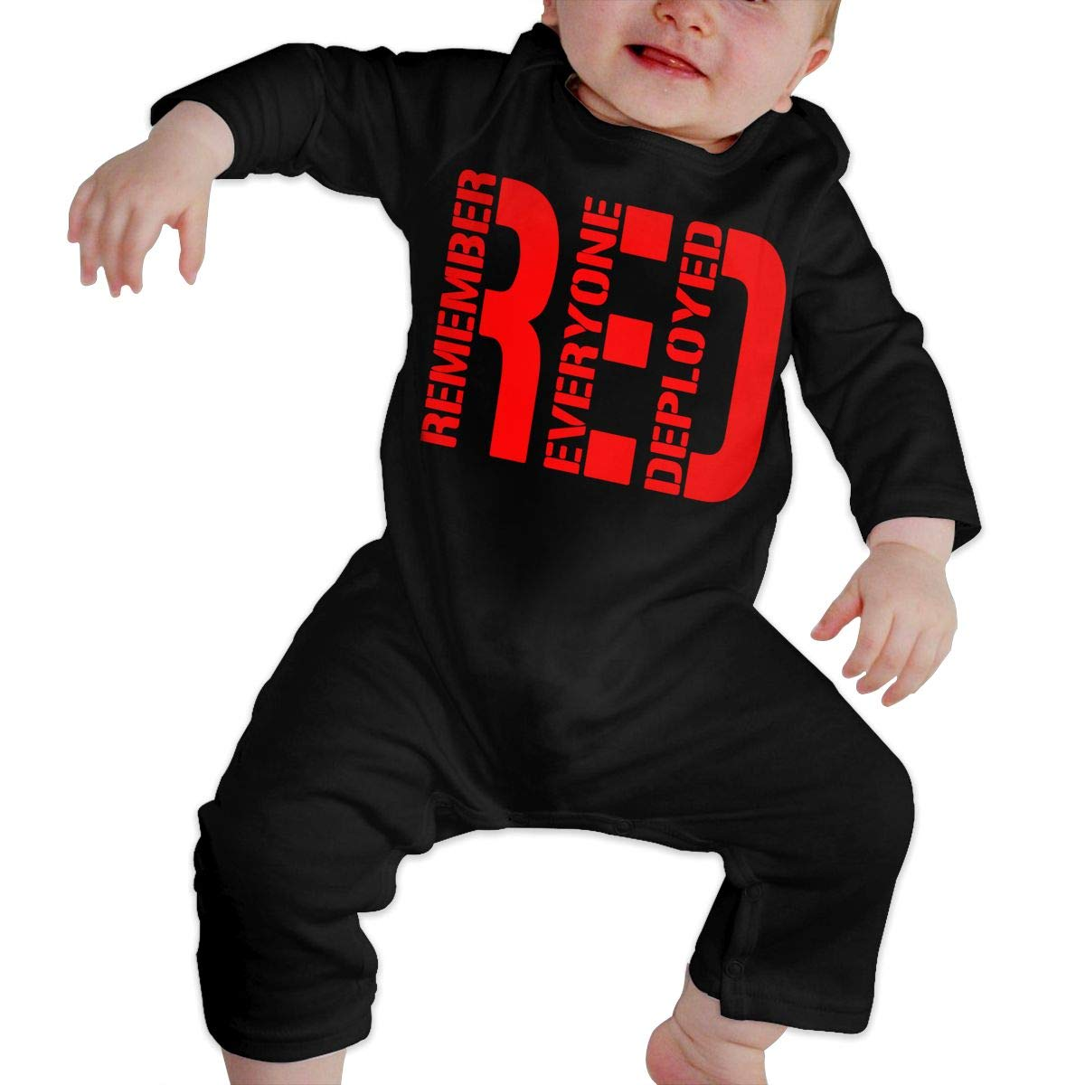 Wear Your RED Support for Our Troops Baby Girl Long Sleeve Romper Jumpsuit Kid Pajamas