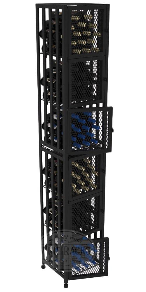 VintageView Case & Crate Metal Wine Rack Locker - Full Height - Capacity 96 Bottles