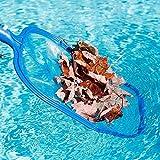 OKOKMALL US--Laubkescher flach Kescher Poolkescher Poolnetz Teich Reinigung Schwimmbecken