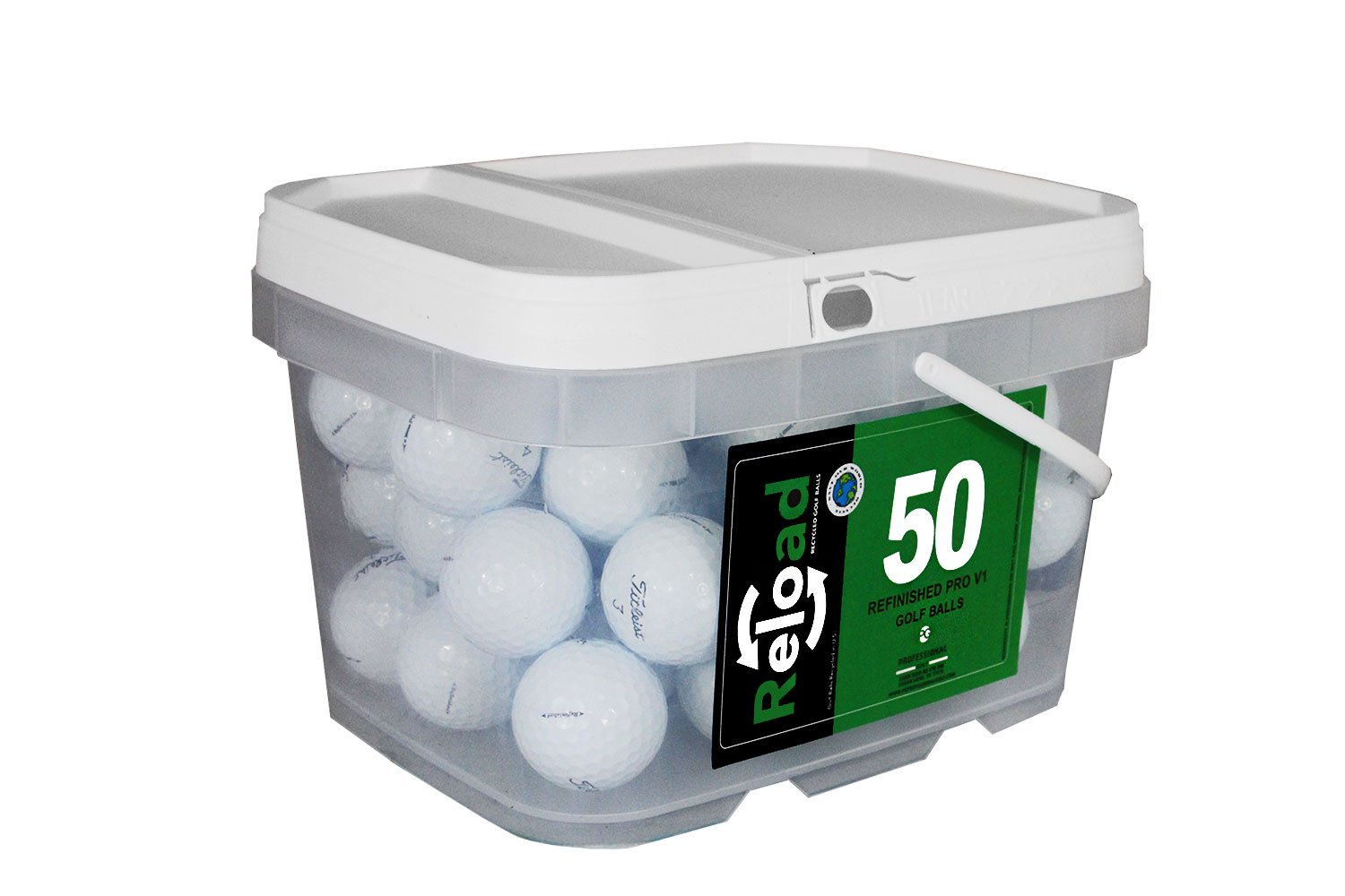 Reload Recycled Golf Balls Titleist Pro v1 Refurbished Golf Balls (50 Pack)