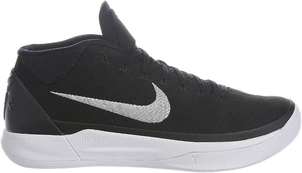 new styles ded7a 2a838 Nike Men s Kobe A.D. Black Metallic Silver White Nylon Basketball Shoes 12  D(