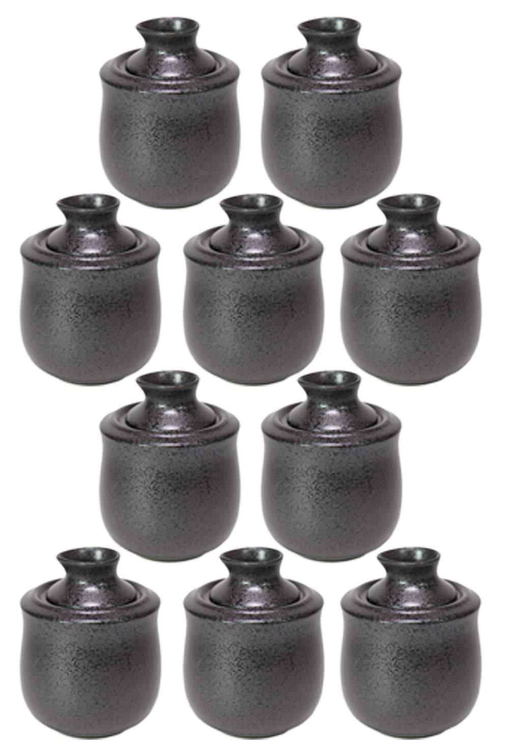 10個セット 黒結晶酒燗器 (小) [ 10 x 12cm (150cc) 395g ] 【 酒器 】 【 割烹 居酒屋 和食器 飲食店 業務用 】 B07DCM5VR3