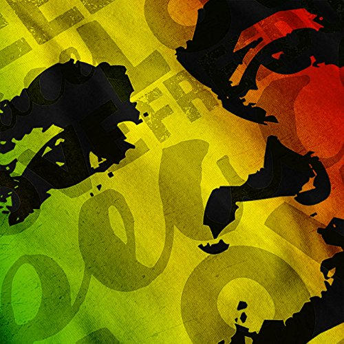 Marley Bob Peace Rasta Reggae Soul Men S-2XL Contrast Hoodie | Wellcoda