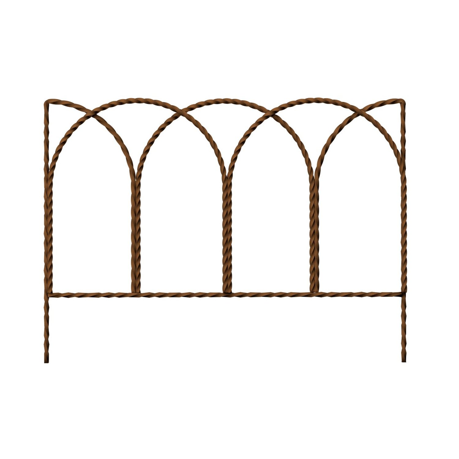 PANACEA PRODUCTS 89362 Rustic Farmhouse Twisted Wire Hoop Border Edge, 14'' x 20''