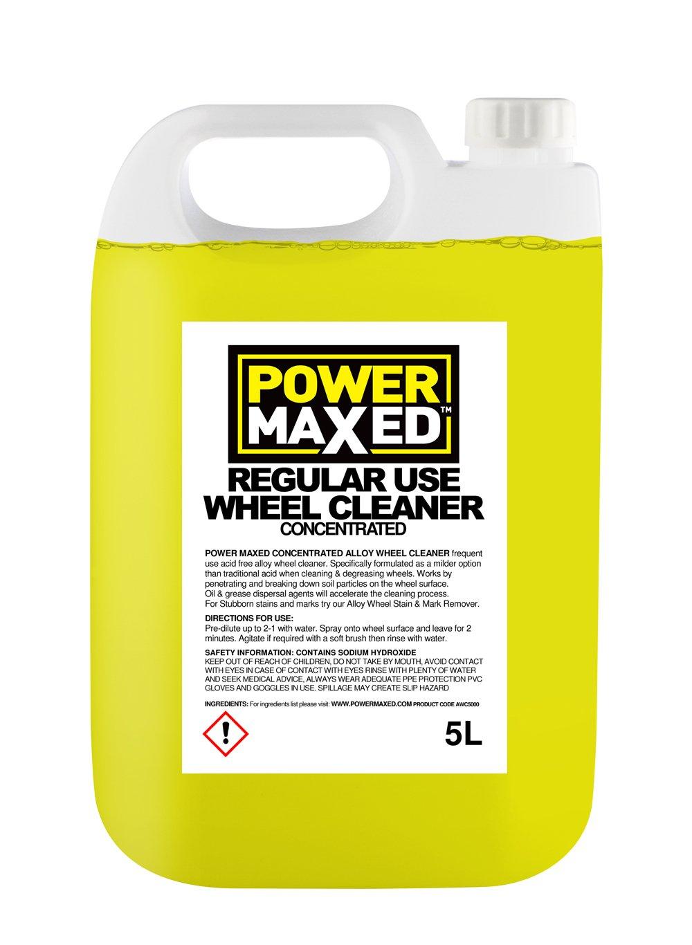 PowerMaxed AWC5000 Detergente concentrato per cerchi in lega, 5 l Power Maxed