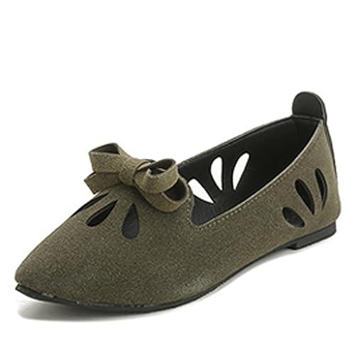 4dd8e0de04250 Amazon.com: Dormery Spring Autumn Women Flats Pointed Toe Slip On ...
