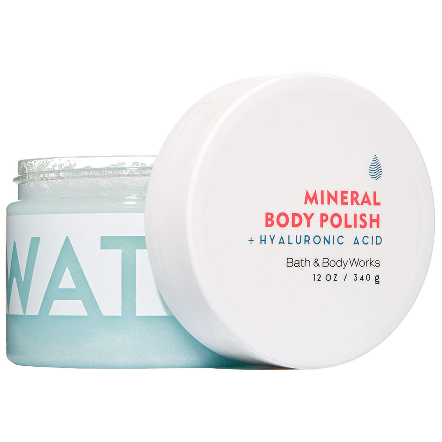 Bath and Body Works WATER Hyaluronic Acid Mineral Body Polish 12 Ounce