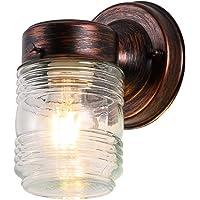 Runnly Jelly Jar Wall Lantern Sconce