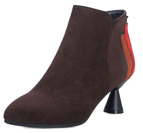 Easemax Femme Spécial Chaussure Montante Talon Bloc Cérémonie Bottines   Amazon.fr  Chaussures et Sacs 93a536ca395e
