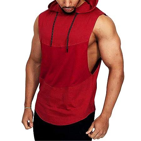 Amazon.com : Casual Mens Short Sleeve Shirts 2019 New Walking Dead t Shirt Mens Summer Casual Patchwork Hooded Sleeveless Sport T-Shirt Top Vest Blouse ...