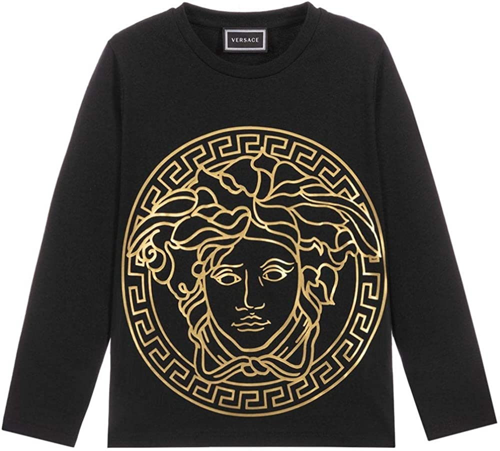 Versace Joven Oro Medusa Camiseta con el Logotipo de Medusa Black 8 Years: Amazon.es: Ropa y accesorios