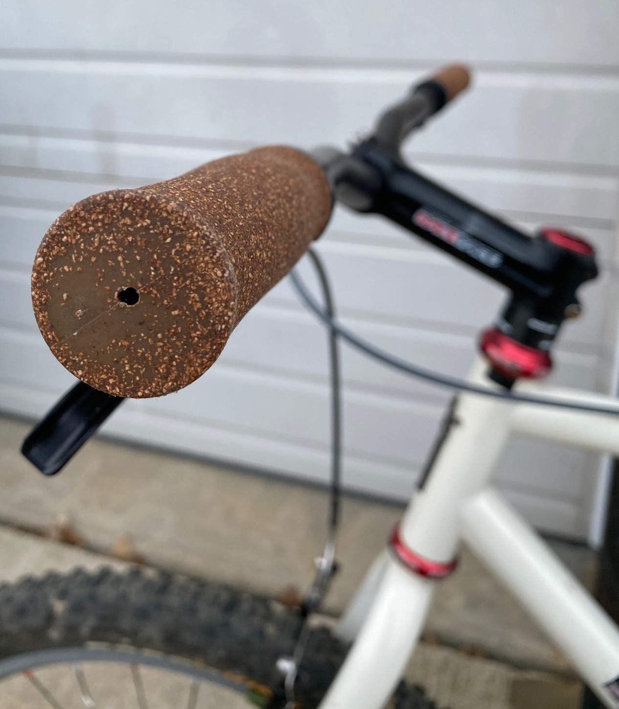 Mountain and Flat Bar Road Bicycles Dark Brown for MTB BMX Electric Planet Bike Happy Hands Dura Cork Handlebar Grips and End Plugs for Locking to Bikes ATB