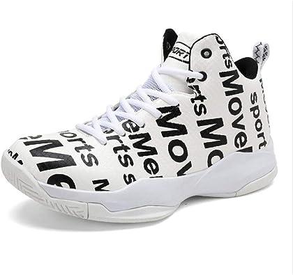Zapatillas de baloncesto para hombre, Zapatillas altas de otoño e invierno, Zapatillas de running Comfort Artificial PU, Zapatillas de deporte de absorción de rendimiento Basket Boots Trainer Sneakers: Amazon.es: Zapatos y complementos