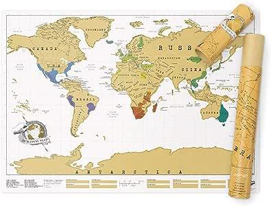 Luckies Of London, LUSCR, Mapa Del Mundo, Mapa Fisico Del Mundo, Regalos De Viaje