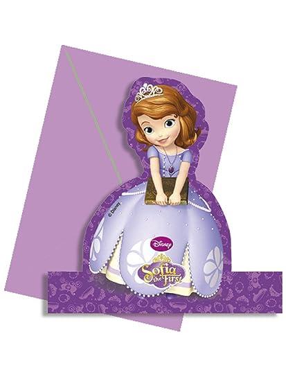 4 Tarjetas De Invitación Con Sobres De La Princesa Sofía