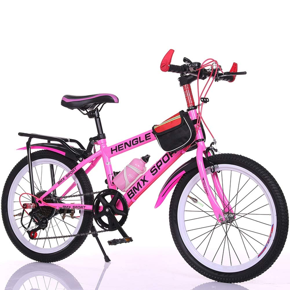 子供用自転車 LLL 6-7-9-10-15歳 ベビーキャリッジ 18/20/22インチ 男の子 女の子 瞳孔 変速 マウンテンバイク 20\ ピンク B07R5SXKQP