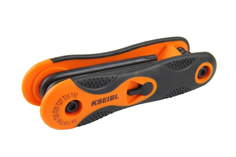 2 Pack KSEIBI 201762 16-Piece Industrial Folding Hex Allen Key Wrench Set SAE /& Metric Size
