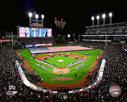 Cleveland Fan Series Indians - Progressive Field Cleveland Indians 2016 World Series Stadium Photo (Size: 8