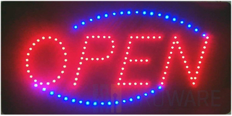 Leuchtschild,Reklame,Werbung Open Farbe Grün /& Rot 1 Stück Neu TOP LED