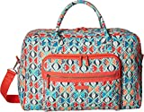 Vera Bradley Iconic Weekender Travel Bag, Signature Cotton, Go Fish, One Size