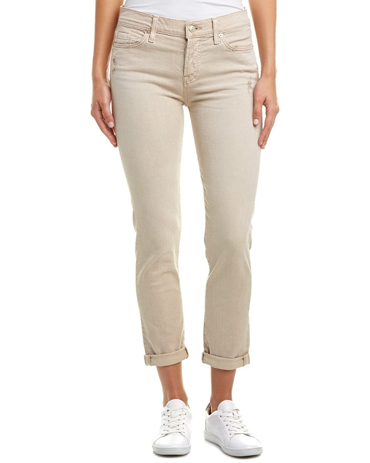 7 For All Mankind Women's Josefina with Rolled Hem in Almond