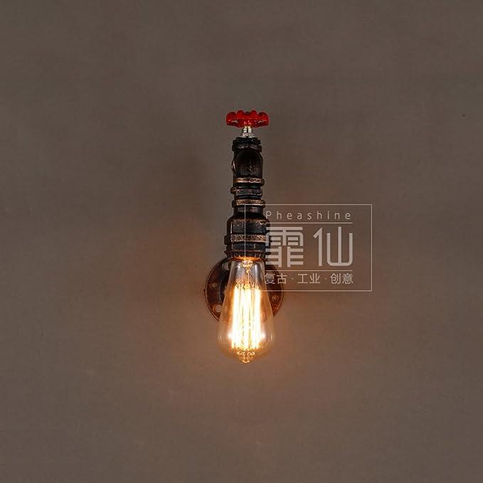 Hines Lámpara de pared única creativa accesorio industria ...