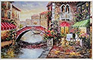 Jigsaw Puzzles for Adults 1000 Piece Large Puzzle, Water City Paintings Jigsaw Puzzle - 27.56