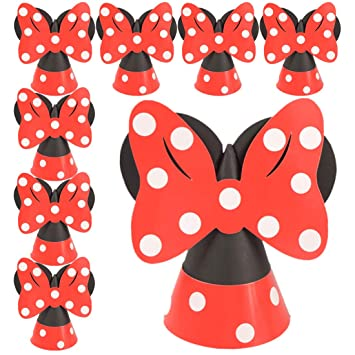 Amazon.com: Minnie Mouse sombreros de papel cono de ...