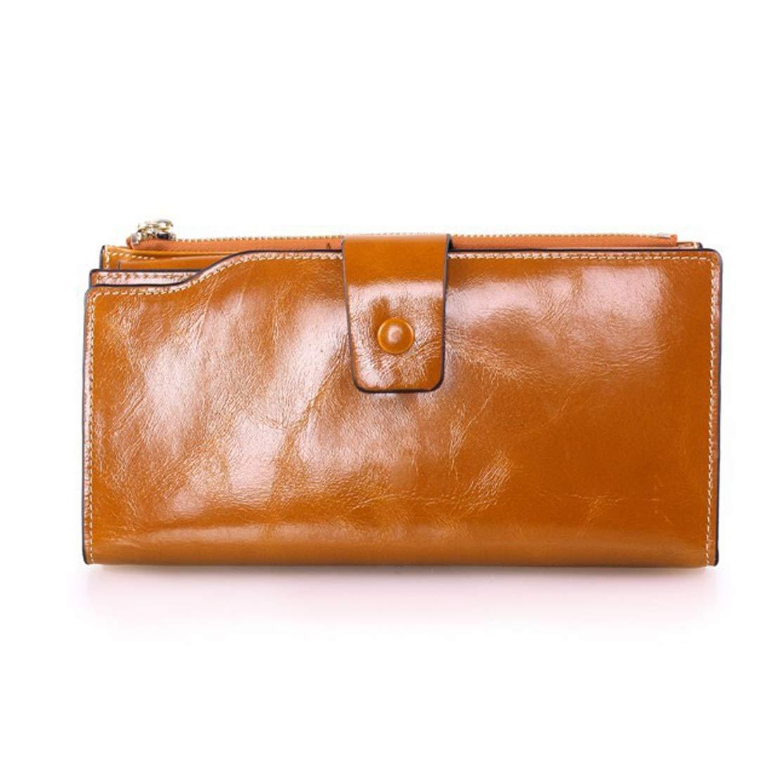 3fa62bbf0b4d4 ... Mifusanahorn Frauen Frauen Frauen Falten große Kapazität Rindsleder  Länge Brieftasche Strap Geldbörse (Farbe lila) ...