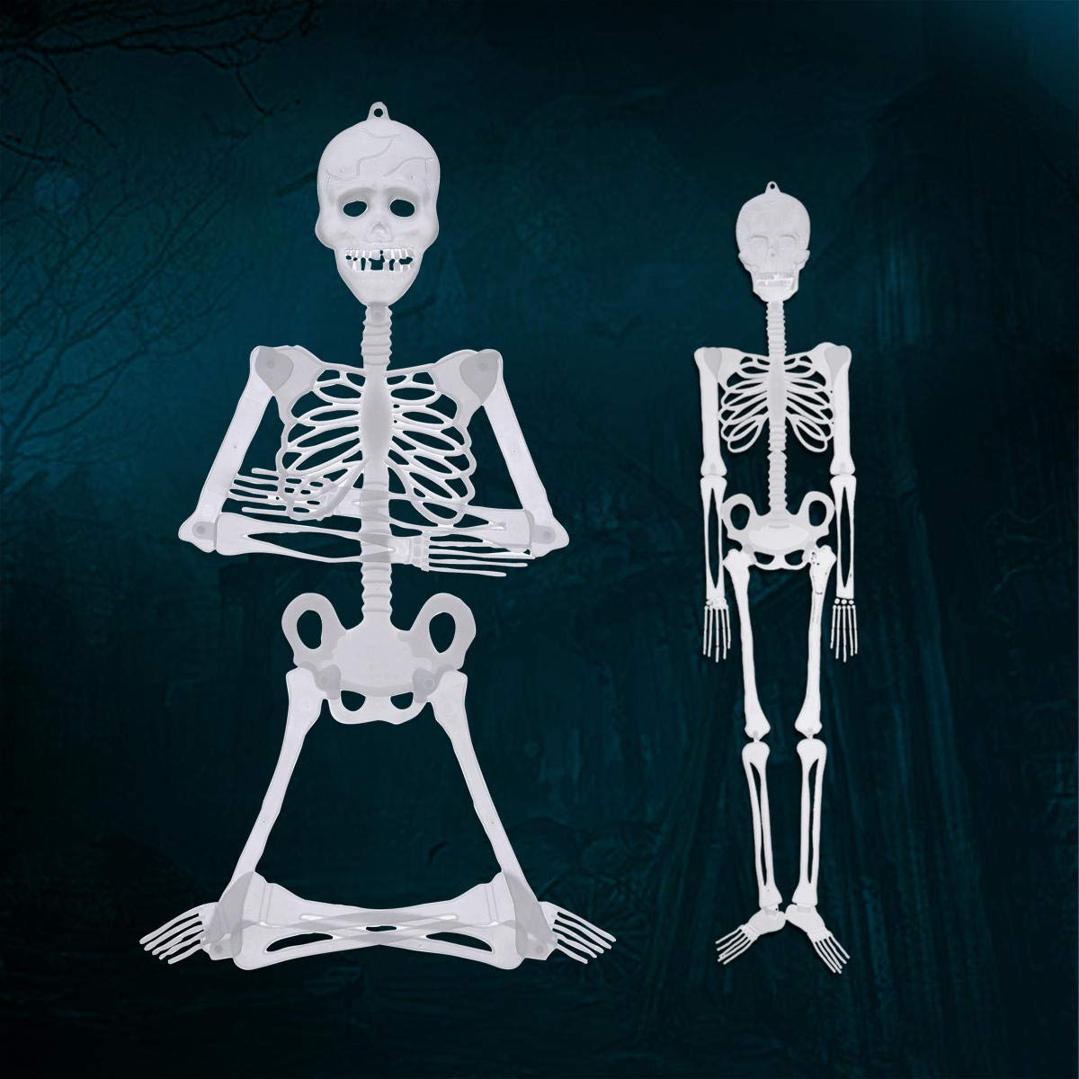 Halloween Luminou Human Skeleton Decoration Classroom Occasionally Adjustable - 1PCs by Unknown (Image #2)