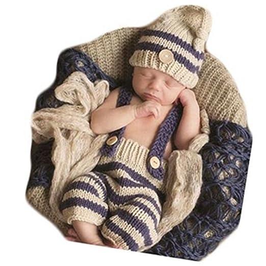 62e47d99c Coberllus Baby Newborn Photography Props Cute Dog Handmade Crochet Knitted  Unisex Baby Cap Outfit