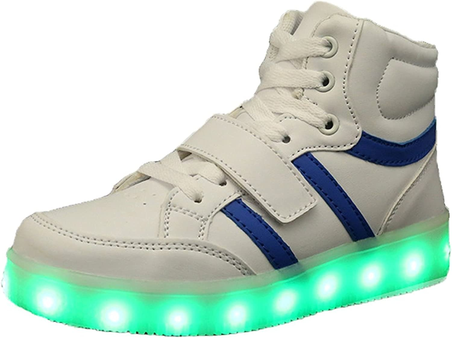Toddler//Little Kid//Big Kid FG21ds21g Kids Boy and Girls High Top Led Sneakers Light Up Flashing Shoes