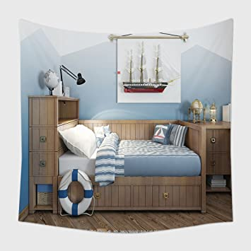 Home Decor Wandteppich Für Baby Bett Für Einen Teenager In Ein Schiff Stil  Mit Einer Lifeline