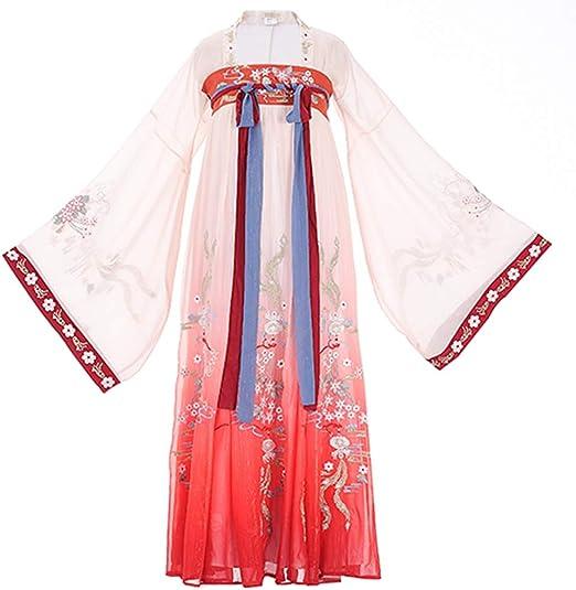 Glhkkp Vestido Chino Hanfu Pieza de la Falda de Dos Hanfu Mujeres ...