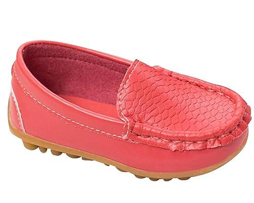 Zapatillas Niñas Planas Mocasines, Todos Estaciónes Zapatos Cómodos Casuales para Escolares Rojo EU 28/ Longueur du Pied:17.7CM: Amazon.es: Zapatos y ...