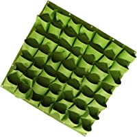 Flameer Green Felt Cloth Vertical Garden Plant Growing Bags Wall Hanging Planter Fits for Green Plants, Pretty Flowers, Herbs, Vegetables