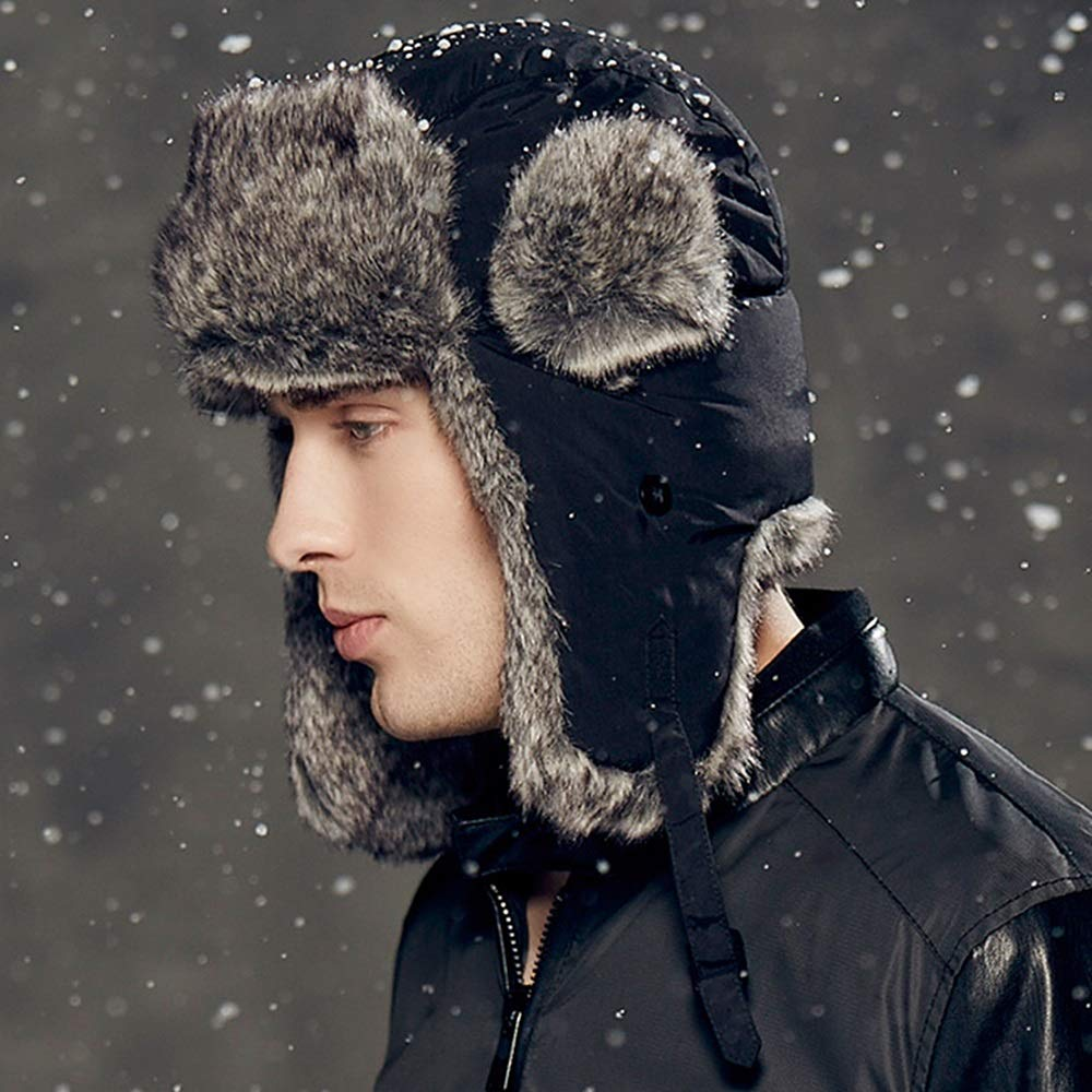 Zxcvb Hat Mens Winter Outdoor Womens Autumn And Winter Lei Feng Hat Thick Warm Hat Earmuffs Winter Hat Northeast Hat Sports & Outdoor Clothing