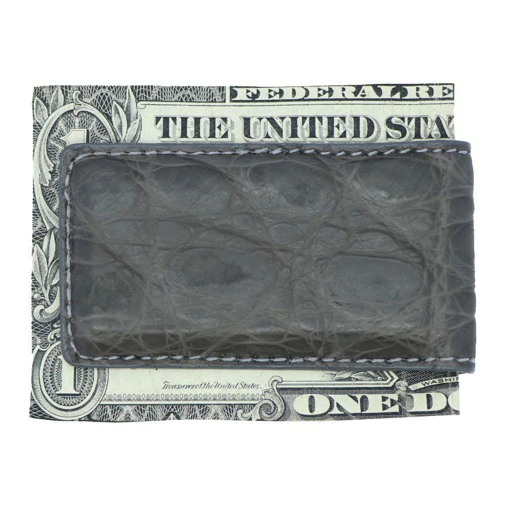 Genuine Alligator Crocodile Ostrich Lizard and Python American Factory Direct Made in USA MC43 Magnetic Money Clips