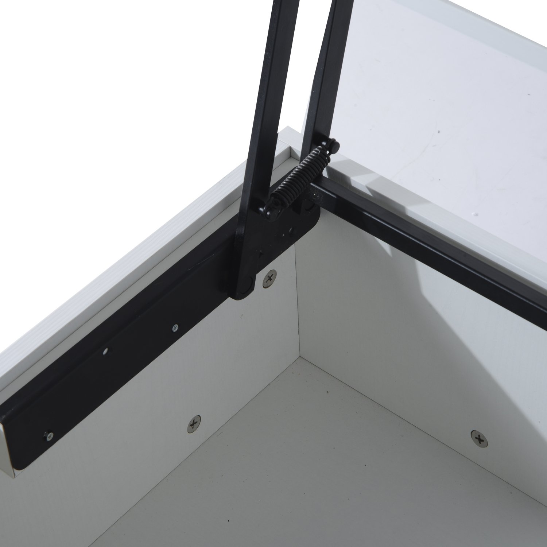 HomCom 43'' Modern Lift-Top Coffee Table - White