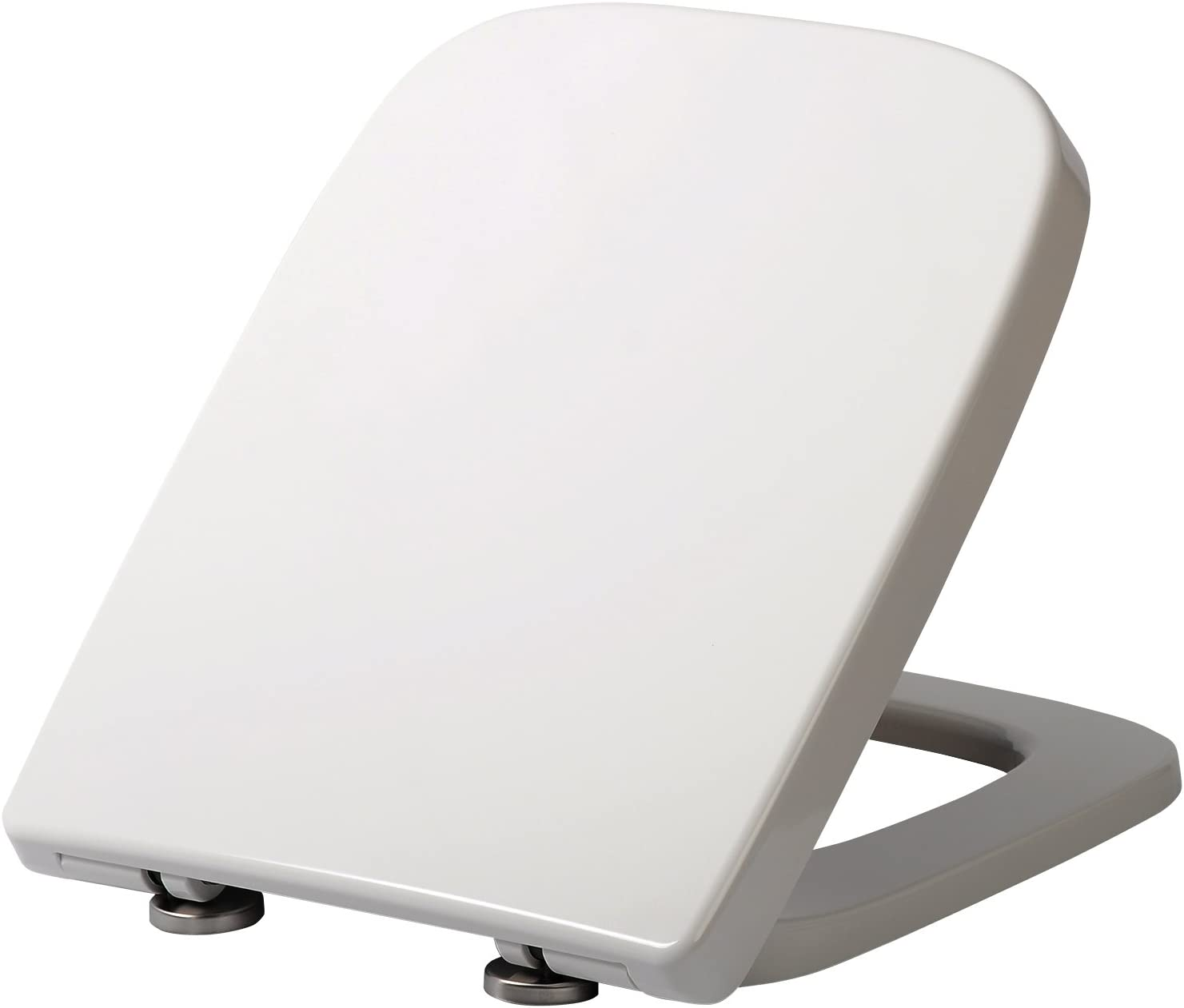 WOLTU Square Toilet Seat,White Soft Close Quick Release Toilet Lid Cover
