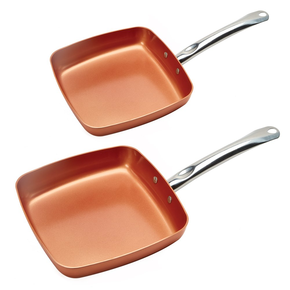 Copper Chef Fry Pan 8 and 9.5 Inch (2 Pack) Tristar Products Inc KC16078-02000