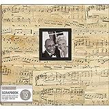 K&Company Patterned Post Bound Window Album 12'X12'-Vintage Music