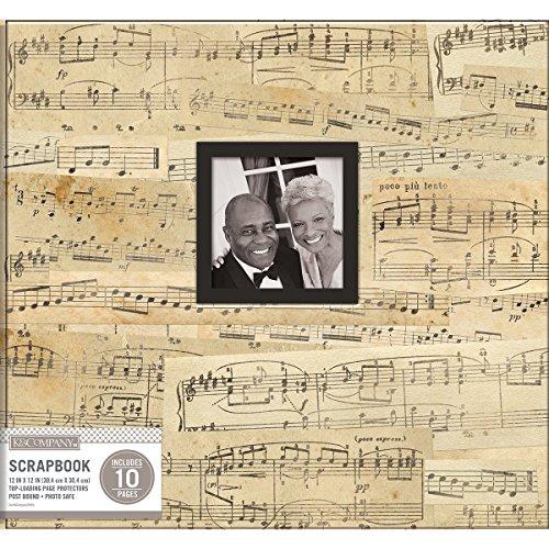 (K&Company Patterned Post Bound Window Album 12