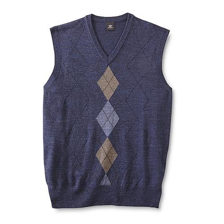 Amazon.com: Men's Sweater Vest - Argyle (M, Blue): Clothing