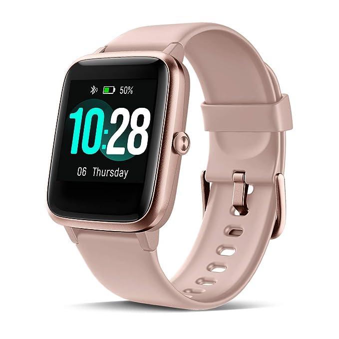 CHEREEKI Smartwatch Reloj Inteligente, Impermeable IP68 Pulsera Actividad con Ritmo Cardíaco, Reloj de Fitness con Podómetro Smartwatch Hombre Mujer ...