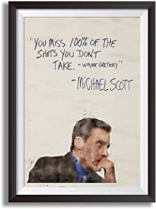 "Kurin Designs Premium Michael Scott 18"" x 24"" Poster - Humorous for Office - Inspirational Gift for Students, Teachers, Fans of The Show, Entrepreneurs with a Growth Mindset (unframed)"