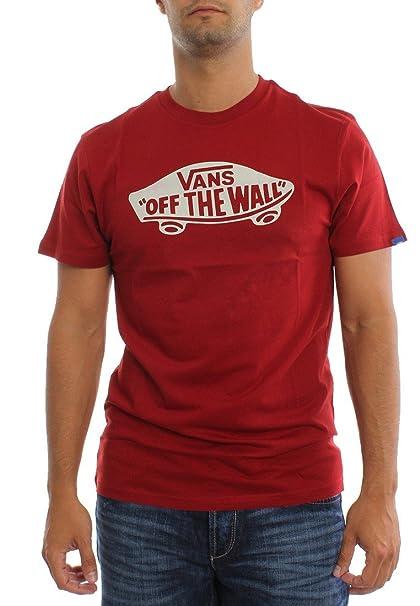 Vans MN OTW Camiseta/Personalizada, Red Dahlia/Brig, M para Hombre ...