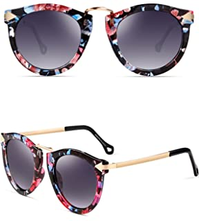 00373d8cd9f ATTCL Vintage Fashion Round Arrow Style Polarized Sunglasses for Women